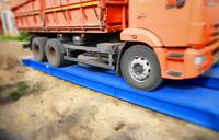 Взвешивание камаза с зерном на автомобильных весах ВАЛ 40 тонн с бетонными въездными пандусами. фото #32