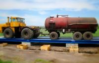 Автомобильные весы 100 тонн ВАЛ. Контрольное взвешивание трактора с прицепом. фото #41